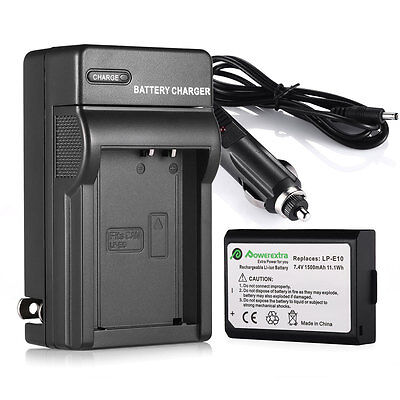 1500mAh LP-E10 Battery + Charger For Canon Rebel T3 T5 EOS 1100D 1200D Camera