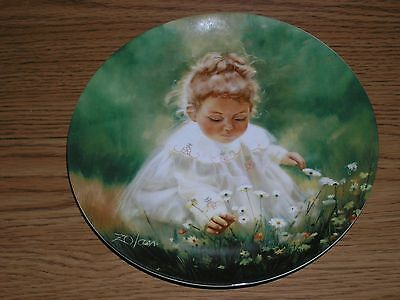 """Spring Innocence 7.5"""" Collector Plate by Donald Zolan from Pemberton & Oakes"""