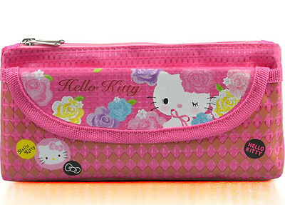 Cute New Rosy Hello Kitty Cosmetic Bag Storage Bag Pencil Pouch Bag Case B093