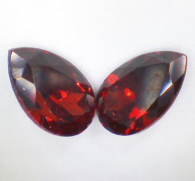 2 GARNET PYROPE faceted pear 5x3 mm 0,59 cts pair EC - Saphirboutique GERMANY