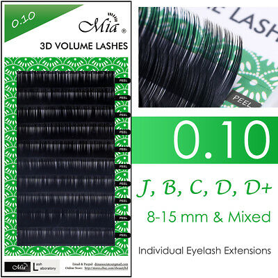 Mia 0.10 Faux Mink Lash Individual Eyelash Extension for 3D Russia Volume Sets