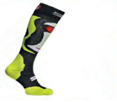 Sidi Faenza Fluo Yellow Motorcycle Motorbike Long Socks