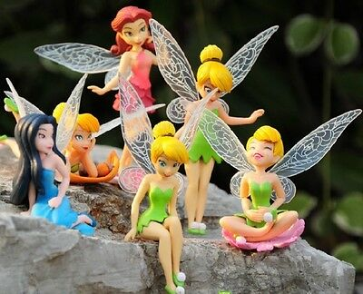 6 Tinkerbell Fairies Disney Princess Action Figures Doll Kid Child Figurines Toy