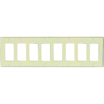 Pro Wire CVRPLT-8I 8-Gang Box Cover Plate Ivory