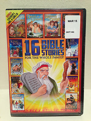16 Bible Stories + CD LDS - NEST New Old Testament Christian Animated From The