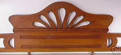 Jugenstil  Arts & Crafts Hand Carved Wood Crown Topper Mantel Molding Antiques