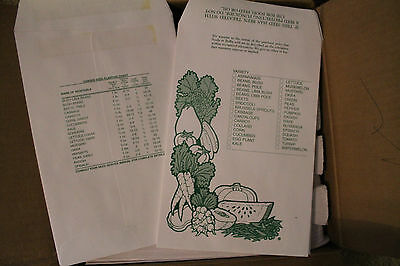 "Lot of 500 Garden Vegetable Seed Envelopes Self Sealing  9 1/2"" x 6 1/2"" NEW"