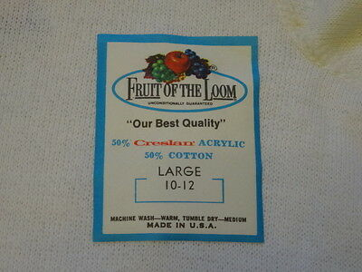Vintage 1960s 60s FRUIT OF THE LOOM Sweatshirt Kids L10-12 USA Deadstock New Old