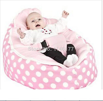 Comfortble Pink Infant Bean Bag Soft Sleeping Bag Portable Seat Without Filling