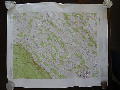 1954 - ANTIQUE Map / Branchville Quadrangle, New Jersey, Sussex Co - Topographic