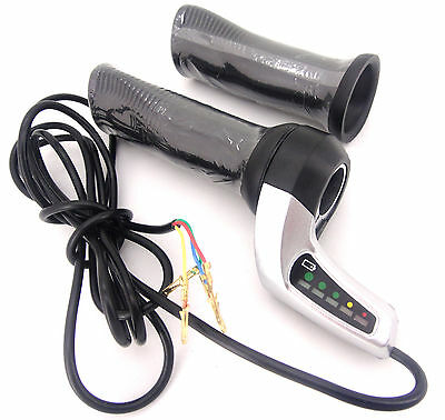 48V Electric Bicycle Throttle Twist Grip with LED Battery indicator