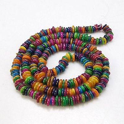 1 Strand Colorful Shell Chips Beads Strands Findings Necklace Making Dyed Craft