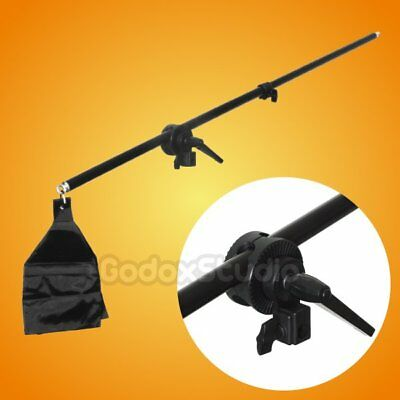 UK 75-140cm Studio Photo Telescopic Boom Arm & Sandbag for Top Light Hairlight