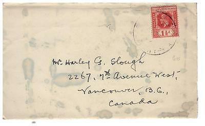 shop1210 Gilbert & Ellice Islands cover to Canada