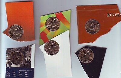 $1 UNC Coin Collection Australia out Set 1989 1994 1986 1996 1991 1990 N-166