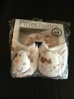 New Pitter Patter Plush Velour Cow Booties