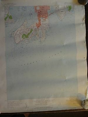 1957 - ANTIQUE Map / Newport Quadrangle, Rhode Island - Topographic