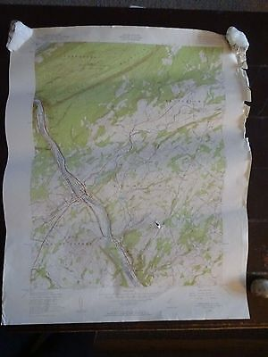 1955 - ANTIQUE Map / Portland Quadrangle, NJ & PA - Topographic