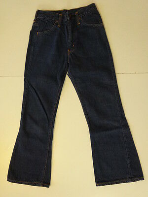 Vtg 60s LEVIS Big-E 646 Bell Bottoms Flare Hippie Indigo Denim Pants Jeans 24x24