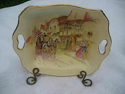 ROYAL WINTON GRIMWADES - HAPPY DAYS HAND PAINTED SMALL DISH - VINTAGE - ENGLAND