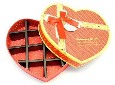 16cm Heart Shaped Cardboard Gift Box Chocolate Candy Holiday Decor ACC-2019