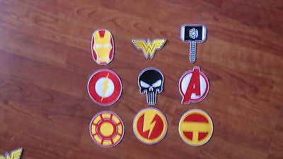 Superhero Embroidered Patch Applique Spiderman Ironman Wonderwoman Flash Green L