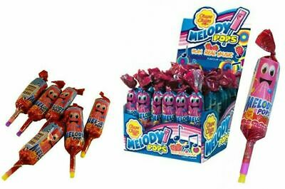Bulk Lot 48 x Chupa Chups Melody Pops Strawberry Lollies Sweets Halloween Candy