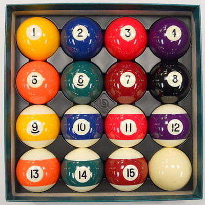 "Belgian Aramith 2 1/8"" PREMIER Pool Balls, Complete Set - FREE US SHIPPING"