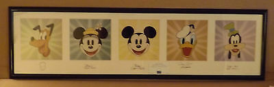 """DISNEY - MICKEY MOUSE - """"SUITE of STARS"""" - SIGNED & FRAMED - FAB FIVE - COA"""