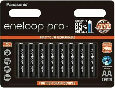 8x Panasonic Eneloop Pro rechargeable AA battery pack MADE IN JAPAN