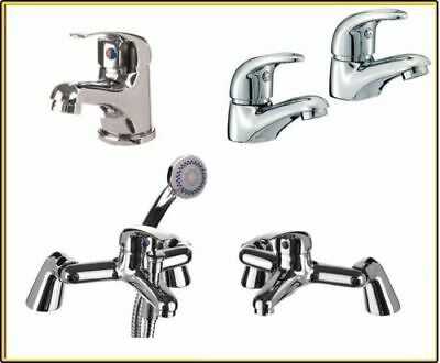Chrome Bathroom Tap Set Bath Filler Shower Mixer Mono Basin Sink Taps