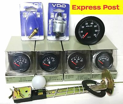 VDO COCKPIT VISION 12v GAUGE KIT 85mm TACHO, OIL, TEMP, VOLT, FUEL + ALL SENDERS