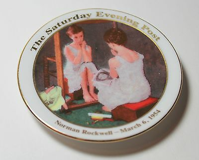 NORMAN ROCKWELL Girl at the Mirror Small Plate