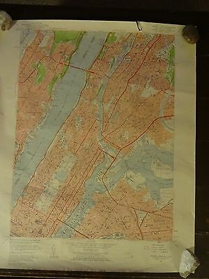 1956 - Map of CENTRAL PARK Quadrangle - NEW YORK - NEW JERSEY - Topographic