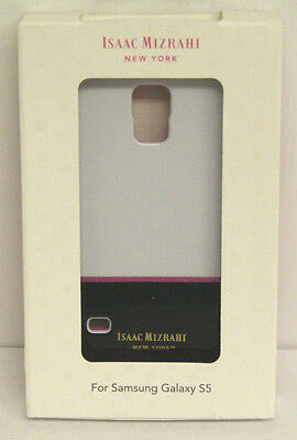 ISAAC MIZRAHI New York Designer Case Samsung Galaxy S 5 S5 White/Black CO8910U