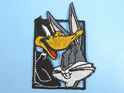Looney Tunes Embroidered Iron On Patches Bugs Bunny Daffy Duck Framed Patch NEW