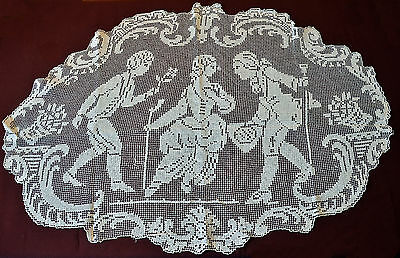Antique Mesh Embroidery Blanket