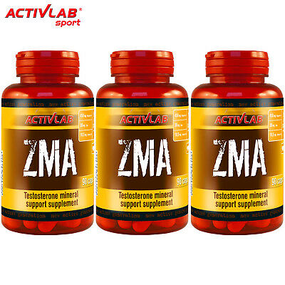 ZMA 90/180 Capsules Zinc Magnesium and Vitamin B6 Mineral Testosterone Booster