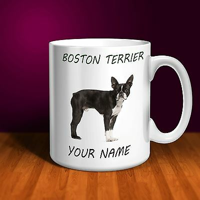 Boston Terrier Personalised Ceramic Mug: Perfect Gift