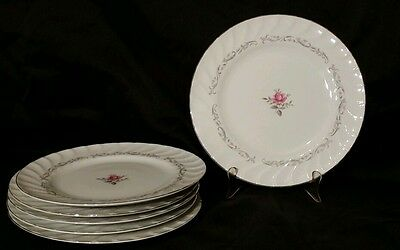 Royal Swirl Fine China Of Japan Set of 6 Dinner Plates 10 1/2""