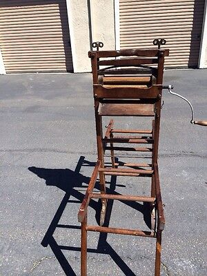 Antique  Folding Double Rack Clothes Wringer Washer