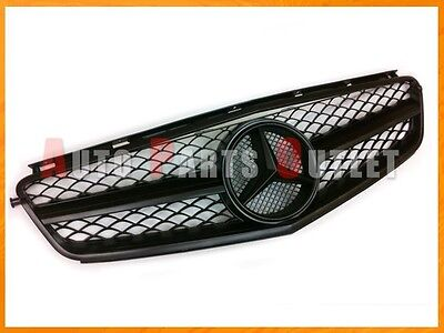 2008-2011 M-BENZ Matte Black Front 1 Fin Mesh Grille For W204 C63AMG Sedan Only