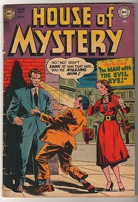 DC  Comics LOW GRADE VG- HOUSE OF MYSTERY  #4 1954  rare  GOLDEN AGE