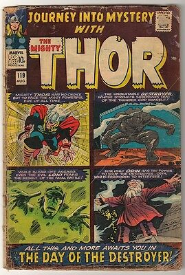Marvel Comics THOR #119 G- Journey into mystery  DESTROYER