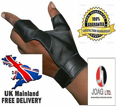 Longbow bow-hand 2 Finger glove New-Archery Gloves, Bow gloves, Hunting Gloves