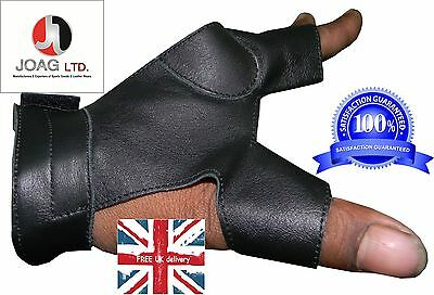 Longbow bow-hand 2 Finger glove New-Shooting Gloves, hunting Gloves, Archery,Bow