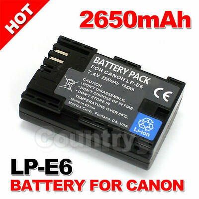 2650mAh LP-E6 Battery for Canon EOS 5D Mark III II 6D 60D 7D Mark II 70D