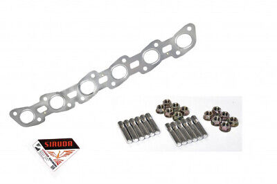 Exhaust Manifold Head Studs & MLS Manifold Gasket - For Nissan Skyline R32 RB20