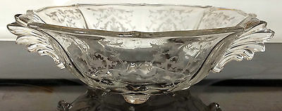 """10.5"""" Fostoria Navarre Footed Bowl with handles - EXCELLENT"""
