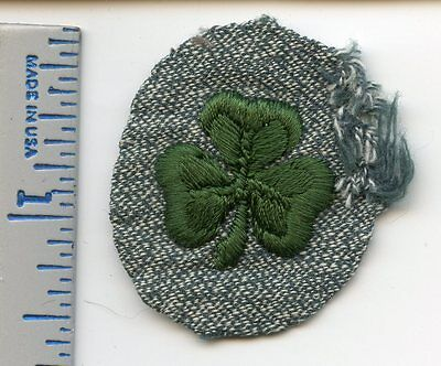 Vintage Girl Scout 2nd Class Patch - Green Cloverleaf - 1938-1948 - RARE